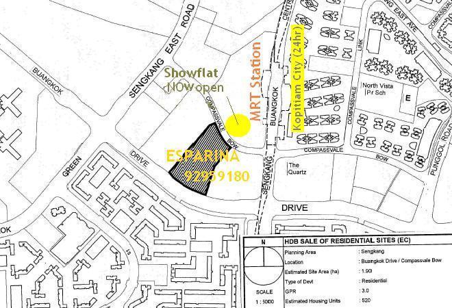 Esparina Residences Site Location Map